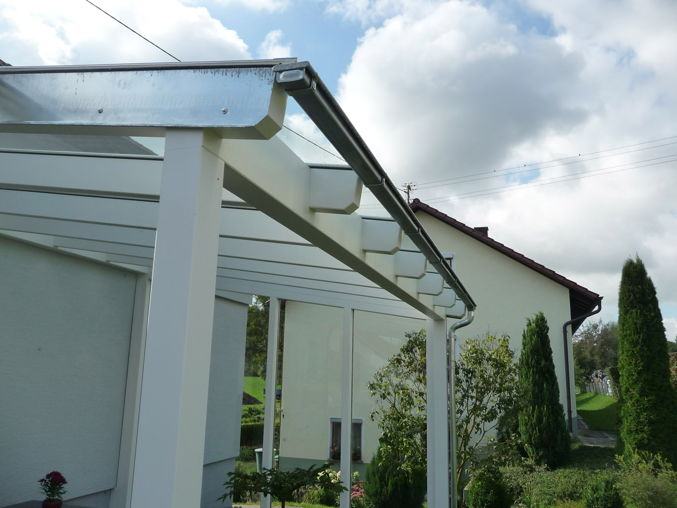 terrassenuberdachung an dachsparren befestigen, plandesign   moderner holzbau - ausführungsdetails, Design ideen